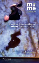 Download a pdf of the brochure - London International Mime Festival