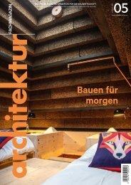 architektur Fachmagazin Ausgabe 5 2020