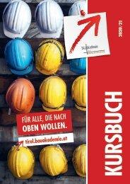 Bauakademie Tirol Kursprogramm 2020-21