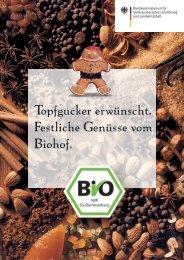 Topfgucker erwünscht. Festliche Genüsse vom Biohof.