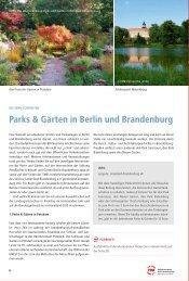 Parks & Gärten in Berlin und Brandenburg - VBB