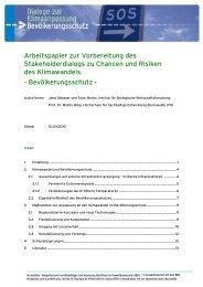 Arbeitspapier Dialog Bevölkerungsschutz - Kompetenzzentrum ...