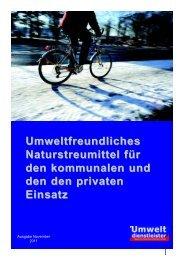 Umweltfreundliches Naturstreumittel für den kommunalen und den ...