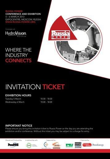 INVITATION TICKET - ussia-power.org