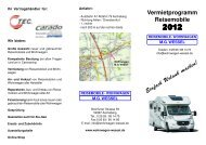 Vermietprogramm Reisemobile - Wohnwagen M.G. Wessel