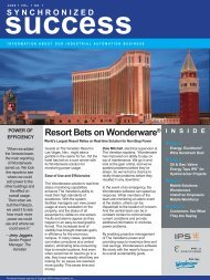 Resort Bets on Wonderware® - Guth News Home