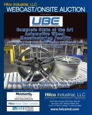 WebCast/OnsIte auCtIOn - Hilco Industrial