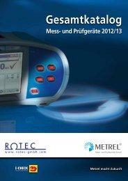 und Prüfgeräte für ortsveränderliche Geräte DIN VDE ... - Rotec GmbH