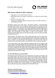 SGL Group: Outlook for 2011 confirmed - Zonebourse.com