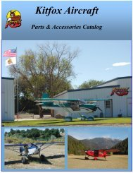 Parts & Accessory Catalog - Kitfox Aircraft
