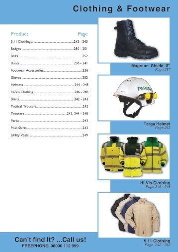 Clothing & Footwear - Bound Tree Medical