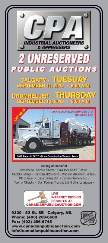 2 UNRESERVED 2 UNRESERVED - Canadian Public Auction