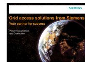 Grid access solutions from Siemens Your partner for success
