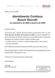 Sede, Fábrica, Escritórios Vendas e Distribuidores - Bosch Rexroth