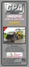tuesday - Canadian Public Auction