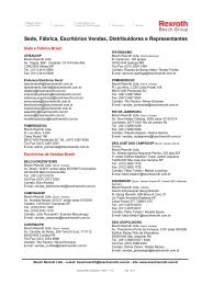 Sede, Fábrica, Escritórios Vendas, Distribuidores e ... - Bosch Rexroth