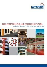 deck waterproofing and protection systems - Remmers UK Limited