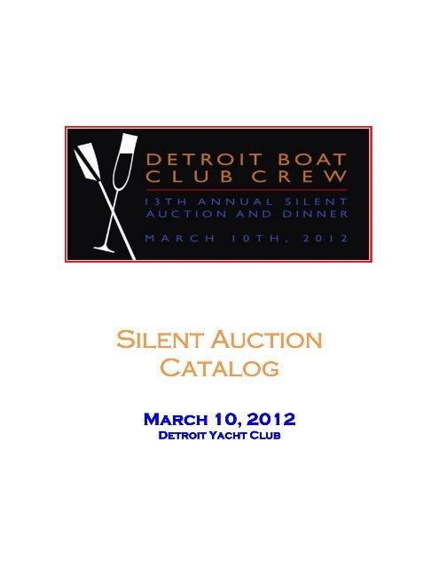 Silent Auction Catalog - Detroit Boat Club Crew