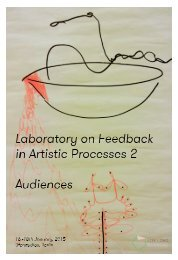 Laboratory on Feedback in Artistic Processes 2