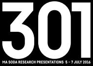 SODA Research Presentations 2016