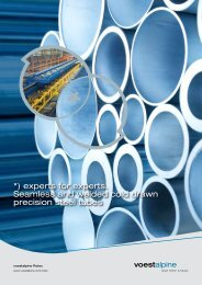 experts for experts. Seamless and welded cold drawn - voestalpine