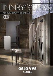 Gessi innbygning for dusj, servant og badekar