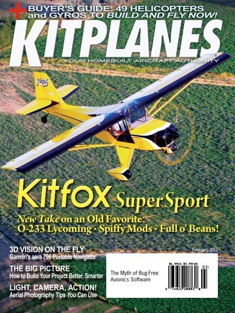 to read the February 2012 Kitplanes - Kitfox Aircraft