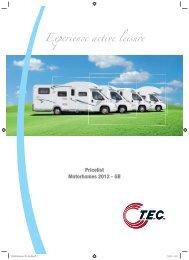 Pricelist Motorhomes 2012 - GB - TEC Caravans