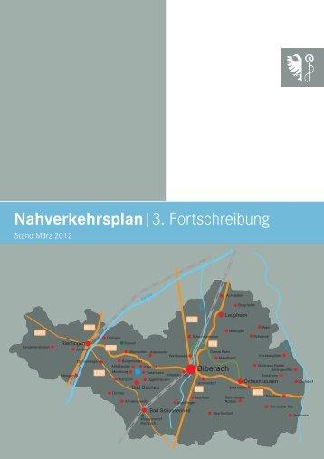 Nahverkehrsplan, 3. Fortschreibung - Landkreis Biberach