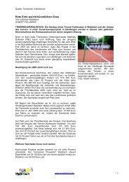 Rote Erde weicht künstlichem Gras - Tennisclub Ruwertal Waldrach