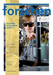 forschen 1/2009 - Forschungscluster «Nuclear and Radiation Science