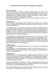 Richtlinien des Förderprogramms
