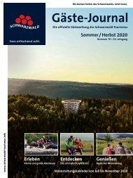 Schwarzwald Gäste Journal Sommer Herbst 2020