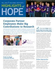 2014 Fall Highlights of Hope