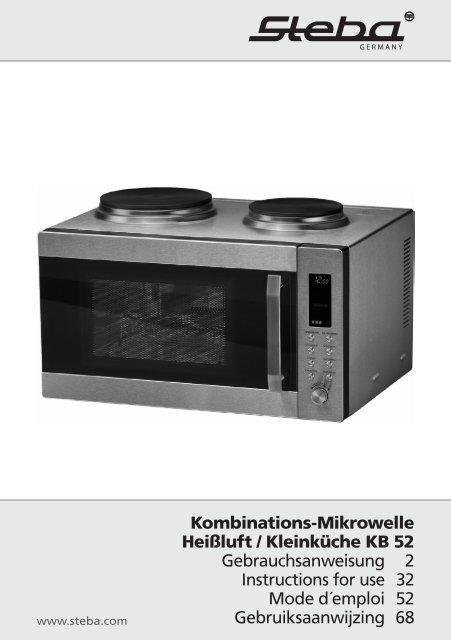 Edelstahl Mikrowelle 1350 Watt Grill Drehteller Timer Kindersicherung Grillrost