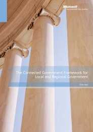 The Connected Government: A Framework for Local and
