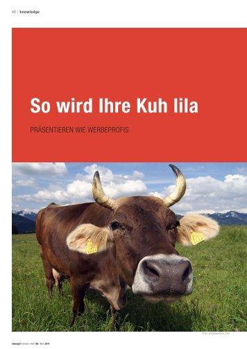So wird Ihre Kuh lila - praesentarium