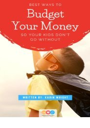 Ebook - Ways to budget money so your children don't go without