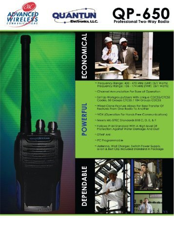 QP-650 Brochure - Advanced Wireless Communications