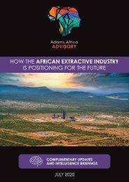 Adams.Africa Advisory Insights - July 2020 Newsletter