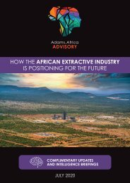 Adams.Africa Advisory Insights - July 2020 Newsletter