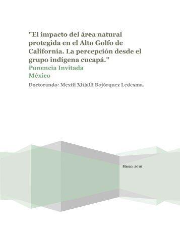"""El impacto del área natural protegida en el Alto Golfo de California ..."