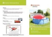 [R] Protect XL Poolpolster/Poolkissen Bedienungsanleitung Rothschenk