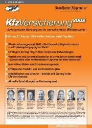 KfzVersicherung 2009 - Versicherungsmagazin