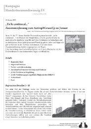 Rote Hilfe Dresden   Konto: 609760434   BLZ ... - Kampagne 129ev