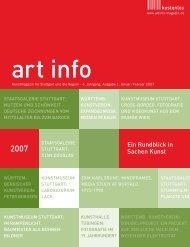 Ein Rundblick in Sachen Kunst - art info