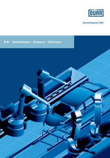 Technologies · Systems · Solutions - Dürr