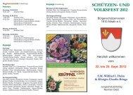 und volksfest 2012 - Bürgerschützenverein 1910 Allrath eV