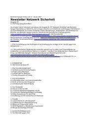 Newsletter Netzwerk Sicherheit - Behörden Spiegel