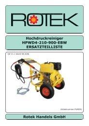Hochdruckreiniger HPWD4-210-900-EBW ... - Rotek